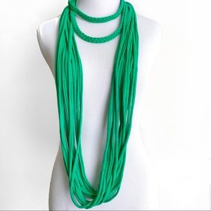 Kelly Green T-shirt Scarf Necklace